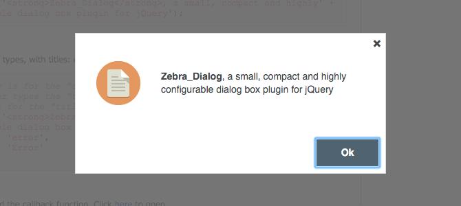 Zebra Dialog