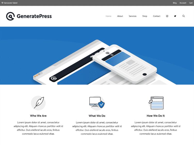 GeneratePress- Melhores Temas WordPress Rápidos e Grátis