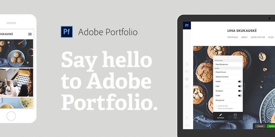 Adobe Portfólio para Designers